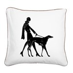 Deco Lady And Borzoi 20 Inch Pillow