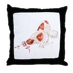 Tell No Secrets Borzoi Throw Pillow
