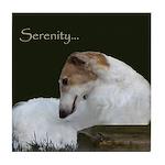 Serenity Borzoi Tile Coaster