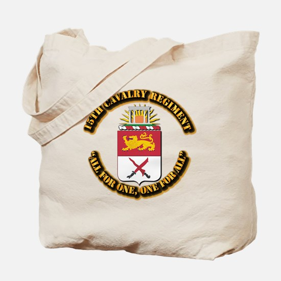 COA - 15th Cavalry Regiment Tote Bag