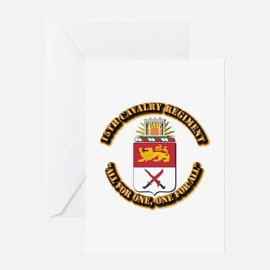 COA - 15th Cavalry Regiment Greeting Card