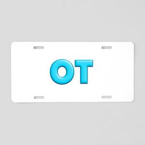 OT Teal Aluminum License Plate
