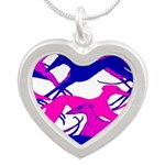 Valentine Hounds Silver Heart Necklace