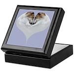 Borzoi Heart Keepsake Box