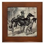Library Borzoi Framed Tile