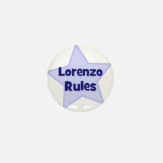 Lorenzo Rules Mini Button