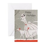 Art Deco Christmas Cards 20PK
