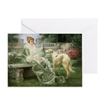 """The Garden"" Borzoi Card"