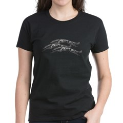 Leaping Borzoi Women's Dark T-Shirt
