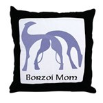 Borzoi Mom Throw Pillow