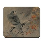 Art Deco Asian Hawk Mousepad
