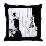 Art Deco Fashion Show Throw Pillow