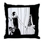 Art Deco Fashion Show Throw Pillow