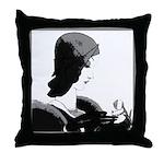 Art Deco Lady Pillow Black-White