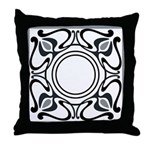 Art Nouveau Pillow Black-Grey