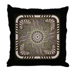 Art Nouveau Pillow Brown