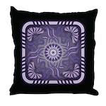Art Nouveau Floral Pillow Grape