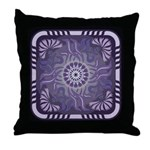 Art Nouveau Floral Pillow Grape