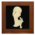 Art Deco Silhouette Framed Tile