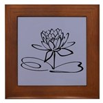 Art Deco Lotus Framed Tile