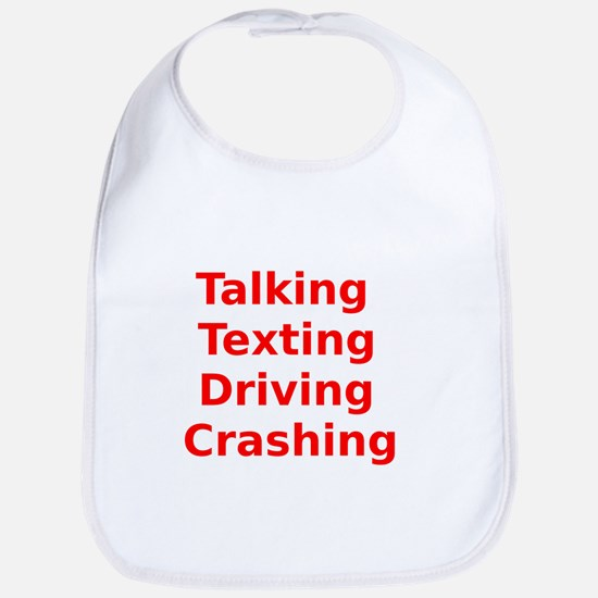 Talking Texting Driving Crashing Bib