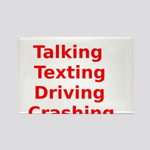 Talking Texting Driving Crashing Rectangle Magnet