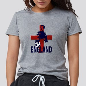 England Flag and lion wit Womens Tri-blend T-Shirt