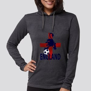England Flag and lion with foo Womens Hooded Shirt