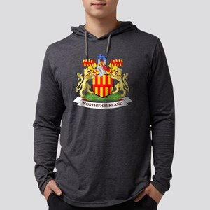 Coat of Arms of Northumberland - Mens Hooded Shirt