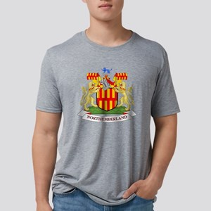 Coat of Arms of Northumberl Mens Tri-blend T-Shirt