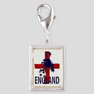 England Flag and lion with football Charms