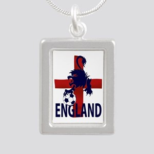 England Flag and lion with football Necklaces