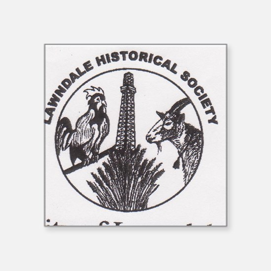 """history seal cup Square Sticker 3"""" x 3"""""""