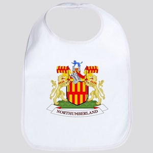 Coat of Arms of Northumberland - Northumb Baby Bib