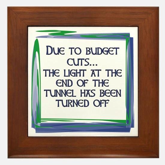 BUDGET CUTS Framed Tile