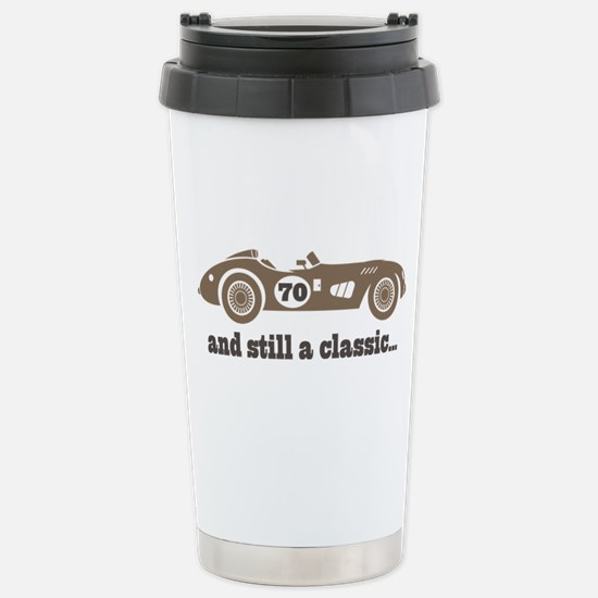 70th Birthday Classic Car Stainless Steel Travel M