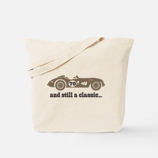 70th Birthday Classic Car Tote Bag