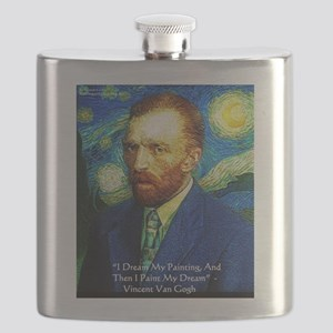 Van Gogh Paint My Dream Flask