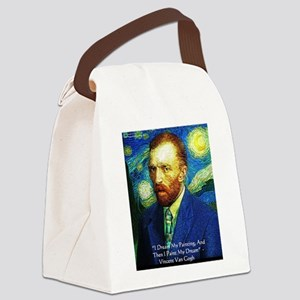 Van Gogh Paint My Dream Canvas Lunch Bag