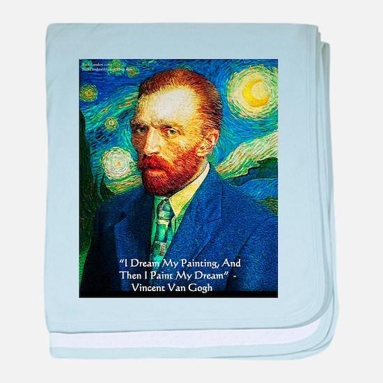 Van Gogh Paint My Dream baby blanket
