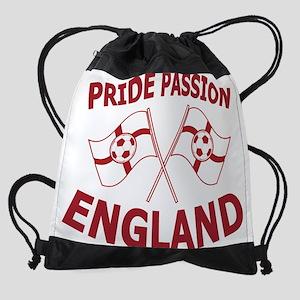 England Football Soccer Flags Drawstring Bag