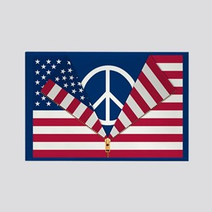 PATRIOTIC AND PRO-PEACE Rectangle Magnet