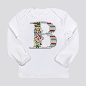Monogram Letter B Long Sleeve T-Shirt