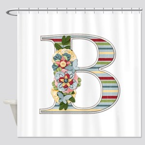 Monogram Letter B Shower Curtain