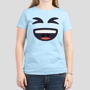 Laughing Emoji Face Women's Light T-Shirt