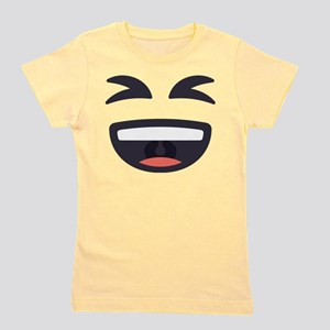 Laughing Emoji Face Girl's Tee