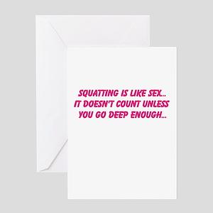 Squat greeting cards cafepress greeting card m4hsunfo