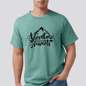 Adventure Awaits Mens Comfort Colors Shirt