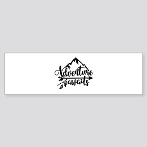 Adventure Awaits Bumper Sticker