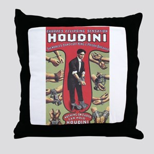 houdini design Throw Pillow